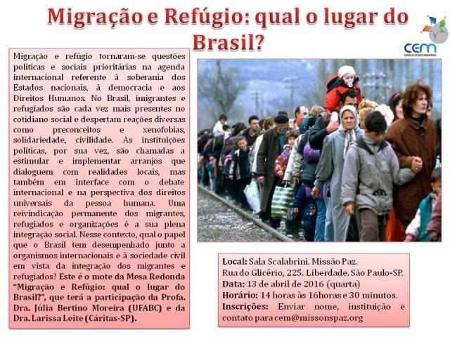 migração e refúgio