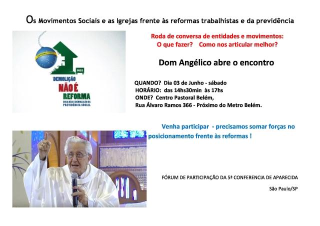 convite mov sociais e as igrejas frente às reformas