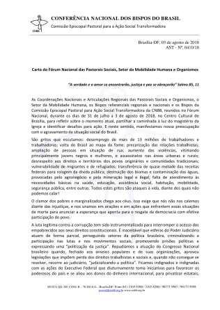Carta do Fórum das Pastorais Sociais-1